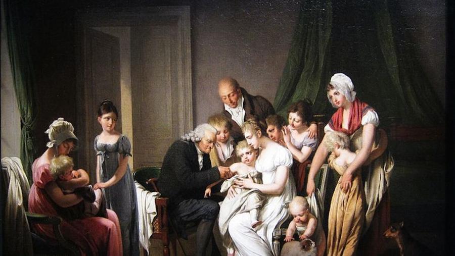 'Vacinación contra a variola', de L. L. Boilly